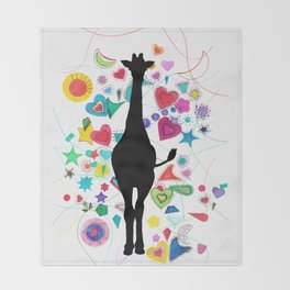 Giraffe World Throw Blanket