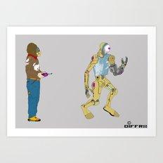 My Robot and I Art Print