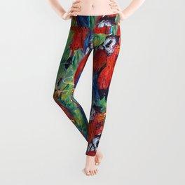 RED PARROT Leggings