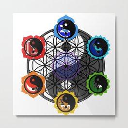 Meta Star Flower Metal Print