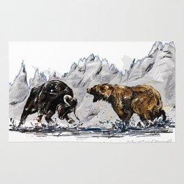 Bull and Bear Rug