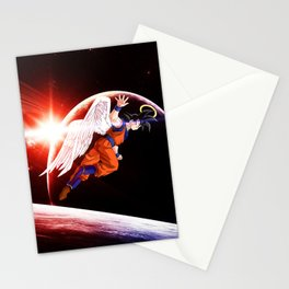 goku winged Stationery Cards