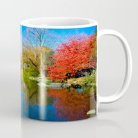 central park Mugs featuring Central Park by Davide Carnevale