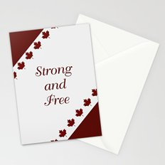 Canada - Strong and Free Stationery Cards