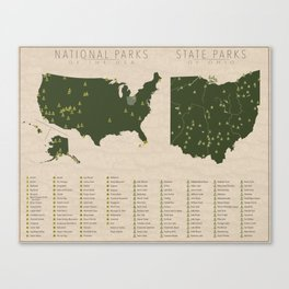 US National Parks - Ohio Canvas Print