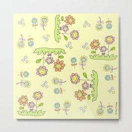 Spring flowers (Yellow) Metal Print