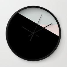 Pastel Triangle Black Based /// www.pencilmeinstationery.com Wall Clock
