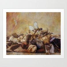 Respite of the Mosquito Hawk Art Print
