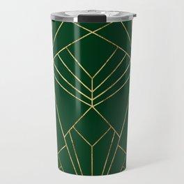 Art Deco in Emerald Green - Large Scale Travel Mug