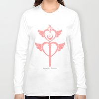martell Long Sleeve T-shirts featuring Sailor Moon Inspired Wand Pink by G Martell