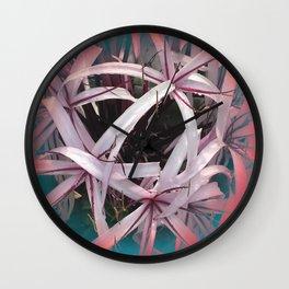 Ribbons of Life: Abstract Design Wall Clock