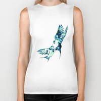 birds Biker Tanks featuring Birds by Nuam
