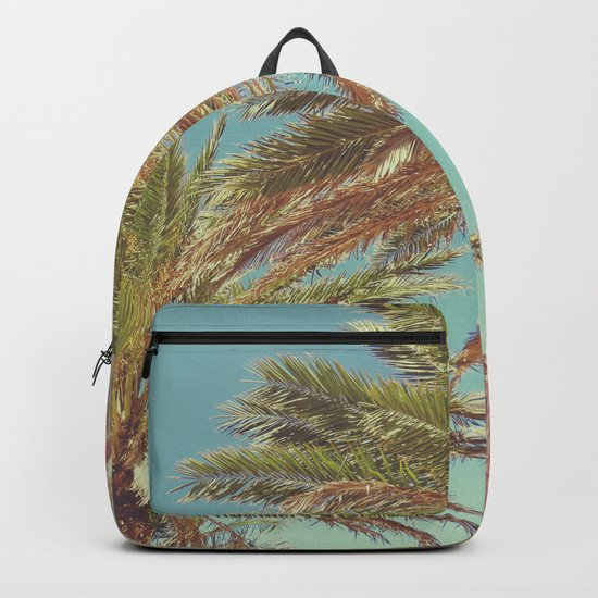 Retro Summer Palm Trees Backpack