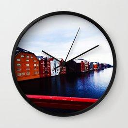 Colors Under Bridge  Wall Clock