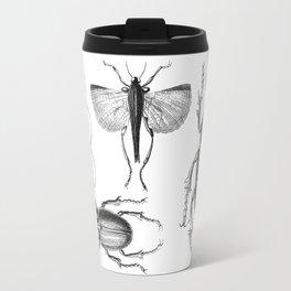 Vintage Beetle black and white drawing Travel Mug