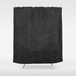 Marble Granite - Classic Sleek Slate Charcoal Black Shower Curtain