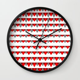 embers geometric pattern Wall Clock