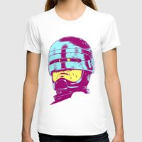 robocop T-shirts featuring Robocop (neon) by Liam Brazier