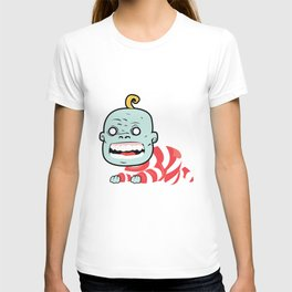 Zombaby decomposition face two T-shirt