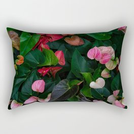 Colorful of Anthurium Rectangular Pillow