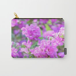 Purple Flowers in the Garden/ Floral/ Summer Sun Carry-All Pouch