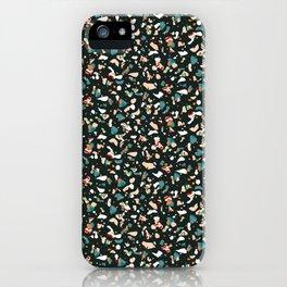 Italian terrazzo dark II #pattern#society6 iPhone Case