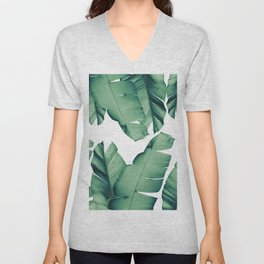 Banana Leaves Tropical Vibes #4 #foliage #decor #art #society6 Unisex V-Neck