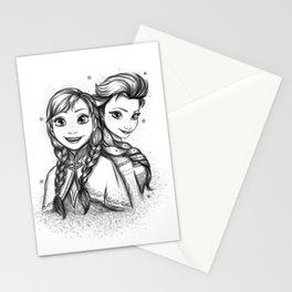 Frozen Sisters Stationery Cards