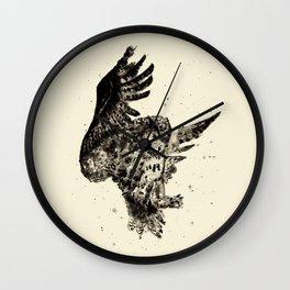 Owl Ink Wall Clock