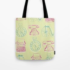 Girly Twist Steampunk Inspired Print Tote Bag
