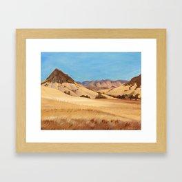 San Luis Obispo Bishop's Peak Plein Air Oil Painting Framed Art Print