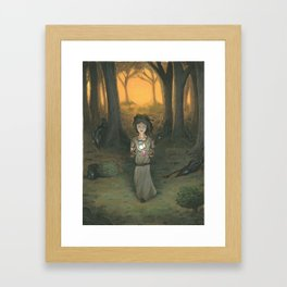 Baby in the Wood Framed Art Print
