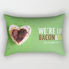 We're Like Bacon & Egg Rectangular Pillow