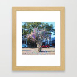 Mardi Gras Tree Framed Art Print