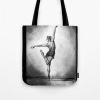 ballerina Tote Bags featuring Ballerina by Megan
