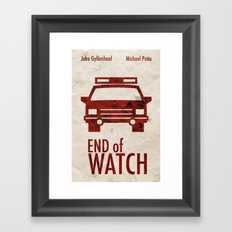 End of Watch Minimal Poster Framed Art Print