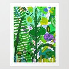 Between the branches. II Art Print