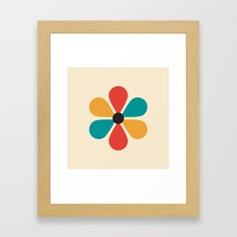 Mid Century Flower Framed Art Print