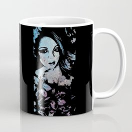 Ruined Our Everything: Blue (graffiti flower lady portrait) Coffee Mug