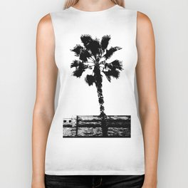 Black & White Palm Biker Tank