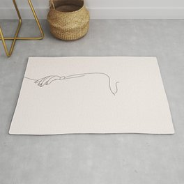 Nude figure line drawing - Mira I Rug