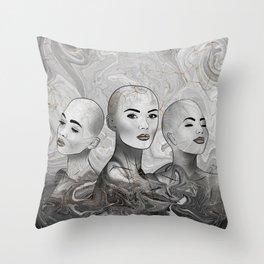 Female silhouettes trio #1 Throw Pillow