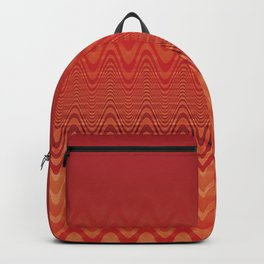 Bright Orange Ombre Chevron Wave Fade Out Backpack