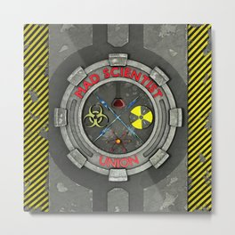 Mad Scientist Union Metal Print
