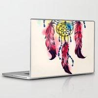 dreamcatcher Laptop & iPad Skins featuring Dreamcatcher by goyye