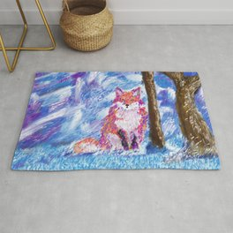 Calm Winter Fox Rug