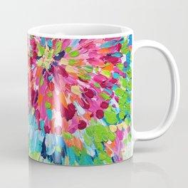 Color Burst Finger Painting Coffee Mug