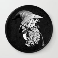 gandalf Wall Clocks featuring Gandalf the Great by jerbing