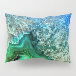 Turquoise Green Agate Mineral Gemstone Pillow Sham