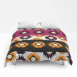 Ethnic shapes in purple and yellow Comforters
